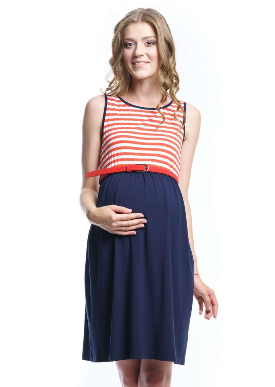Белое летнее платье для беременных